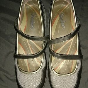 Skechers Shoes - ⭐Skechers Taupe Stylized Mary Jane Slip Ons